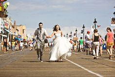 Wedding Photo On The Boardwalk In Ocean City Nj