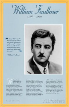 American Authors of the 20th Century - William Faulkner Prints at AllPosters.com