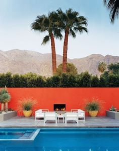 Landscaping Ideas | Pool Design | Palm Springs | Mid-Century Modern | Desert Home | Outdoor Seating