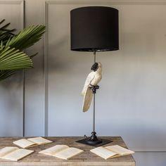 White Parrot Lamp - View All Lighting - Lighting - Lighting & Mirrors