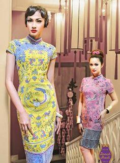 batik - yellow and blue - Batik Indonesia
