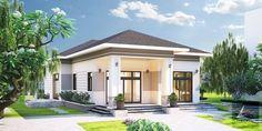 Thiết kế nhà đẹp giá rẻ cấp 4 mái thái ở nông thôn   KAV Home Interior Design, Rum, Tiny House, House Design, Mansions, House Styles, Outdoor Decor, Modern, Home Decor