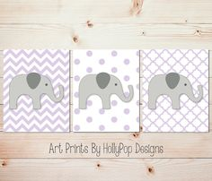 Girl Nursery DecorBaby Girl Wall ArtLilac Gray by HollyPopDesigns, $35.00