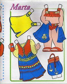 Bonecas de Papel: Coleção de Bonecas de Papel Cabeçudas