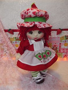 OOAK Mattel My Child Doll ~ Strawberry Shortcake ~ Commission Doll   da jesska80