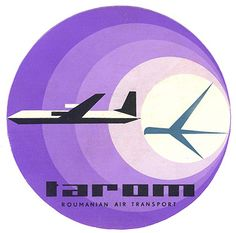 Art of the Luggage Label – Vintage Luggage Labels Airline Logo, Airline Travel, Vintage Luggage, Vintage Travel Posters, Vintage Airline, Tarom Airlines, Aviation Logo, Ticket Design, Luggage Labels