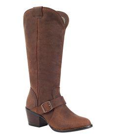 Look at this #zulilyfind! Brown Philly Turn-Down Leather Boot - Women by Durango #zulilyfinds