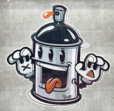 can ääätsch – Graffiti World Graffiti Doodles, Graffiti Tattoo, Graffiti Lettering, Spray Grafite, Spray Paint Cans, Graffiti Designs, Graffiti Characters, Weed Art, Tattoo Illustration