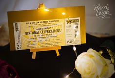 How great are these festival ticket style invitations created by @harrileighdesign ? They would work so well for a summer al-fresco wedding! www.yoursurrey.wedding/supplier/az/24004/harri-leigh-design