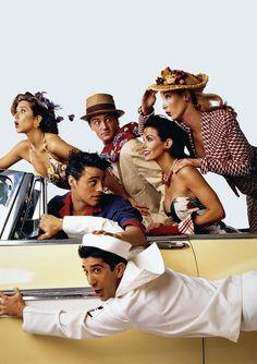 Matthew Perry, Matt LeBlanc, David Schwimmer, Jennifer Aniston, Courtney Cox & Lisa Kudrow.