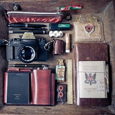 leather and cameras