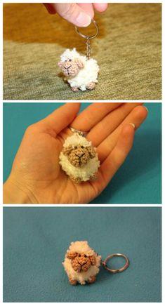 KNITTED TRINKET SHEEP #amigurumi #amigurumipattern #knitting #knitted #crochet #crochetaddict #crochettutorial