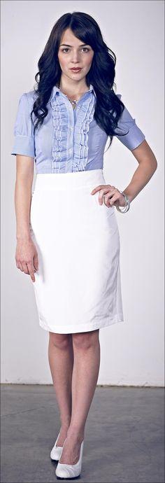 Mikarose Shimmer Pencil Skirt
