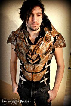 Wasteland rusty teslapunk apocalypse chest armor