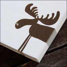 Moose stencil for Owen's room.