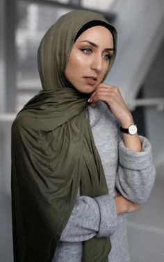 Modern Trendy Jersey Hijab Scarves From Hijab Loft - Ships from the US Dubai Fashion, Hijab Fashion, Love Culture, Beautiful Hijab, Up Styles, Turban, Kaftan, Character Inspiration, Style Icons