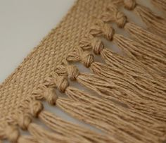 Knotted fringe in cotton
