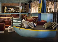 I Love This Idea For My Beach Themed Patio A Hanging Rowboat As Seating Hammock