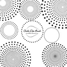 Dotted circle brush