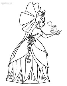 baby tiana coloring pages - photo#35