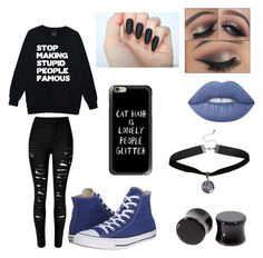 Untitled #22 by atomicriley on Polyvore featuring polyvore, Converse, Casetify, Lime Crime, fashion, style and clothing