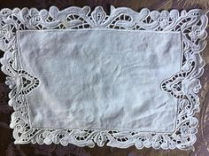 Mixed dressing  table set  cutwork white linen
