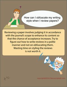 #Manuscriptedit @ How can I obfuscate my #writing style when I review #papers?  Reviewing a #paper involves judging it in accordance with the journal's scope to enhance its content so that the chance of acceptance increases. Try to figure out how to write reviews in a polite manner and not on obfuscating them. Wasting time on styling the reviews is not worth it.   #Manuscriptedit #imagepost : http://bit.ly/27ue73h