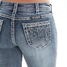 Cowgirl Tuff Women's Crystal Waterfall Boot Cut Jeans JCWATR