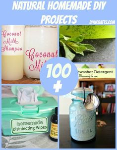 100+ Natural Homemade DIY Projects {Collection} Lip Gloss, Eye Cream, Eyeglass Cleaner, Air Freshener, Liquid Dish Soap, Antiseptic Homemade Mouthwash, All-Natural Pesticide, Coconut Milk Shampoo and much much much More!:)