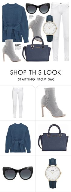 """""""Day One"""" by jomashop ❤ liked on Polyvore featuring rag & bone, Cape Robbin, 3.1 Phillip Lim, Michael Kors, Gucci, CLUSE, white and Blue"""