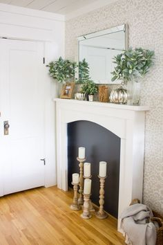 How to create a simple + neutral Fall mantel in just a few simple steps... | www.makingitinthemountains.com