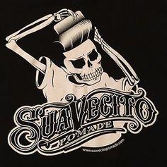 Genuine Suavecito Pomade Skeleton Pompadour XL Graphic T Shirt Free Shipping | eBay