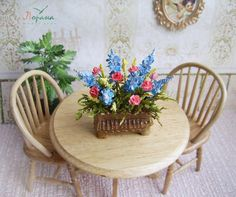 Flowers in a pot. Miniature flowers. Realistic от ShtankoLarisa