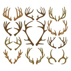 Deer antlers - spirituality and regeneration Cricut Air, Cricut Vinyl, Vinyl Decals, Silhouette Cameo Projects, Silhouette Design, Silhouette Frames, Vinyl Crafts, Vinyl Projects, Diy Y Manualidades