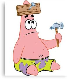 Patrick Star Canvas Print by TheCaminater