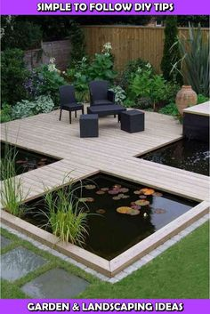 Koi Teich Designs i池デザイン #デザイン #池 Related posts: How to Build a Pond and Waterfall Modern Diy Garden Pond Waterfall Ideas For Backyard 04 DIY Pond with Flex Seal Liquid® 55 The most popular ideas for pond and water gardens in a beautiful garden Garden Pond Design, Backyard Patio Designs, Landscape Design, Backyard Ideas, Small Backyard Design, Small Backyard Patio, Patio Pond, Unique Garden, Diy Pond