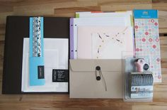 The raw materials for a wedding binder