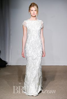 An Anna Maier ~ Ulla Maija wedding dress with cap sleeves   Brides.com