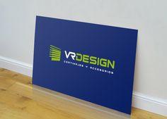 Diseño de logotipo para VR Design, una empresa que fabrica y distribuye todo tipo de cortinas, estores enrollables, paneles japoneses, persianas, venecianas, etc....  Nuestro cliente necesitaba una imagen fresca, moderna e identificativa de sus productos.