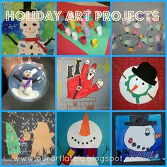 we heart art: 9 different holiday art project ideas!
