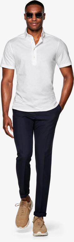 Uni Weiß Kurzarm H5935 | Suitsupply Online Store