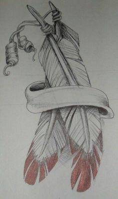 Tattoo Feather Arm Pictures 49 Ideas - -Best Tattoo Feather Arm Pictures 49 Ideas - - Native American style eagle with feathers and beads. Pencil drawing with dark sh. Native American Feather Tattoo, Indian Feather Tattoos, Native American Drawing, American Indian Tattoos, Indian Feathers, Feather Drawing, Feather Tattoo Design, Feather Art, Indian Tattoo Design