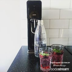 With your SodaStream Sparkling Water maker, you can easily carbonate flat water at home, as often as you like. After fizzing, infuse with your favorite fruit for a refreshing beverage that your entire family will love!