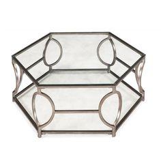 Nevelson Hexagonal Glass Cocktail Table