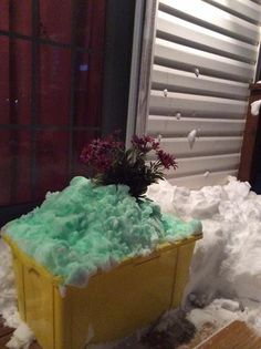 Jacqueline McFarland, Harrisonburg I figure if I make the snow look pretty, well, maybe our wonderful city would be inspired to recycle this snow. That would be awesome!! #whsvsnow
