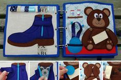 Quiet book for boy by MirzaCrafts on Etsy
