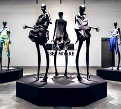 Window Mannequins ISSEY MIYAKE at the Holon Design Museum in Israel
