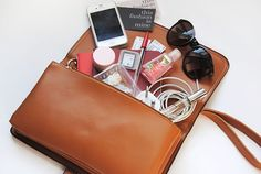 What's in my bag handbag leather love