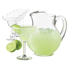 Cancun Margarita Pitcher and Glasses