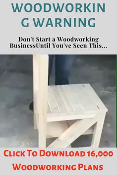 "Get Instant Access To Dozens New Cool FREE Woodworking Plans at our website above ( if you use your phone just click ""Visit"") Small Wooden Projects, Wood Projects That Sell, Scrap Wood Projects, Woodworking Projects That Sell, Woodworking Shop, Woodworking Plans, Woodworking Magazine, Woodworking Chisels, Woodworking Equipment"